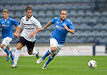 Raith Rovers v St Johnstone...12.07.14  Pre-Season Friendly<br /> Lee Croft pulls away from Kevin Moon<br /> Picture by Graeme Hart.<br /> Copyright Perthshire Picture Agency<br /> Tel: 01738 623350  Mobile: 07990 594431