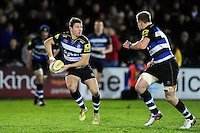 Laurence May of Bath United looks to pass the ball. Aviva A-League match, between Bath United and Wasps A on December 28, 2016 at the Recreation Ground in Bath, England. Photo by: Patrick Khachfe / Onside Images