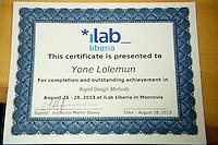 iLab course certificate