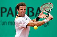 Teimuraz Gabashvili (RUS) against Jurgen Melzer (AUS) (22) in the third round of the men's singles. Jurgen Melzer beat Teimuraz Gabashvili 7-6 4-6 6-1 6-4..Tennis - French Open - Day 9 - Mon 31 May 2010 - Roland Garros - Paris - France..© FREY - AMN Images, 1st Floor, Barry House, 20-22 Worple Road, London. SW19 4DH - Tel: +44 (0) 208 947 0117 - contact@advantagemedianet.com - www.photoshelter.com/c/amnimages