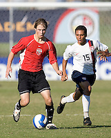 Vardar player and USA's Eder Arreola (15). 2007 Nike Friendlies, which are taking place from Dec. 6-9 at IMG Academies in Bradenton, Fla.