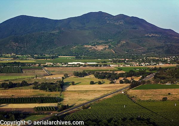 aerial photograph Kelseyville, Highway 29, Mount Koncti, Lake County, California