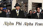University of Kentucky's chapter of Alpha Phi Alpha came to support the Martin Luther King parade at the downtown Lexington Convention Center, in Lexington, Ky., on Monday, January 21, 2013. Photo by Genevieve Adams  | Staff.
