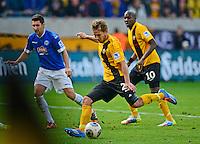 Fussball, 2. Bundesliga, Saison 2013/14, 34. Spieltag, Armina Bielefeld, Sonntag (11.05.14), Dresden, Gluecksgas Stadion. Dresdens Robert Koch erzielt das Tor zum 2:2.