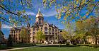 April 22, 2017; Main Building Spring 2017 (Photo by Matt Cashore/University of Notre Dame)