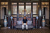 Architect Laurence Loh poses for a portrait in the, La Maison Bleu (or the Blue Mansion), touted as the best of 18th and 19th century Chinese architecture in the UNESCO heritage city of Georgetown in Penang, Malaysia. Photo: Sanjit Das/Panos