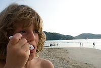 Lucas on the beach in Zihuatanejo. photo shoot in Zihua with Federico Rigoletti and family, Diego Garcia and his daughters, and the Wiseman family as part of the Puntarena cook book