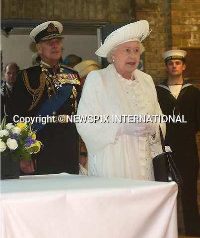 """QUEEN'S JUBILEE PAGEANT.Her Majesty The Queen and Duke of Edinburgh recieving a Royal Salute from the Royal Guard at HMS President..London. 03/06/2012.Mandatory Credit Photo: ©B Sutton/NEWSPIX INTERNATIONAL..**ALL FEES PAYABLE TO: """"NEWSPIX INTERNATIONAL""""**..IMMEDIATE CONFIRMATION OF USAGE REQUIRED:.Newspix International, 31 Chinnery Hill, Bishop's Stortford, ENGLAND CM23 3PS.Tel:+441279 324672  ; Fax: +441279656877.Mobile:  07775681153.e-mail: info@newspixinternational.co.uk"""