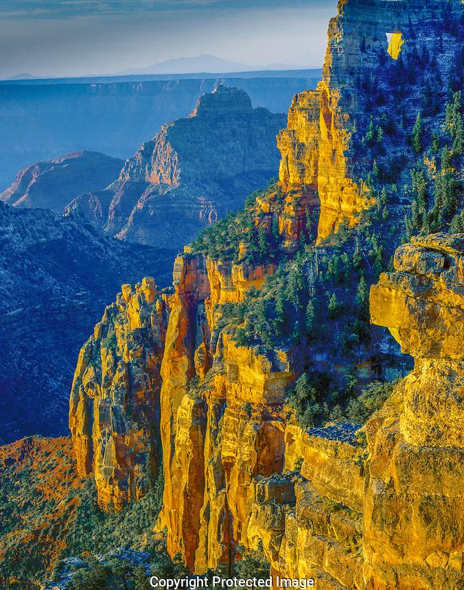 Cape Royal at dawn, Grand Canyon National Park, Arizona North Rim