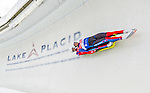 5 December 2014:  Lukas Broz and Antonin Broz, sliding for the Czech Republic, bank into Curve 10 on their second run, ending the day with a 11th place finish and a combined 2-run time of 1:28.896 in the Men's Doubles Competition at the Viessmann Luge World Cup, at the Olympic Sports Track in Lake Placid, New York, USA. Mandatory Credit: Ed Wolfstein Photo *** RAW (NEF) Image File Available ***