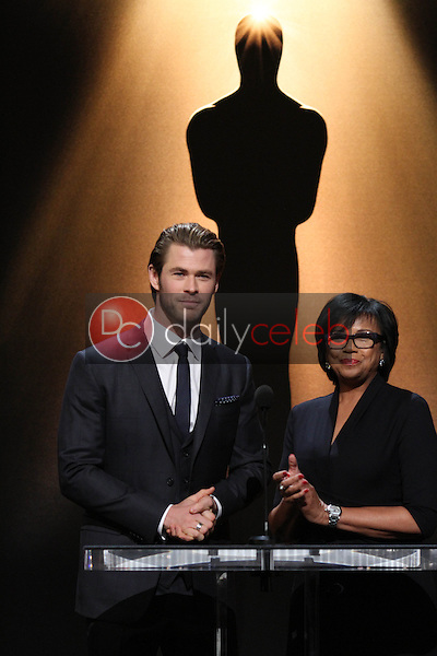 Chris Hemsworth, Cheryl Boone Isaacs<br />