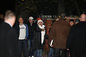 Chicago, IL - November 22, 2008 -- A crowd greets United States President-Elect Barack Obama as he leaves the home the home of friend Penny Pritzker after he and his wife Michelle had dinner there Saturday evening, November 22, 2008..Credit: Anne Ryan - Pool via CNP