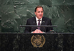 His Excellency Stefan L&ouml;fven, Prime Minister of the Kingdom of Sweden<br /> <br /> 6th plenary meeting High-level plenary meeting of the General Assembly (3rd meeting)