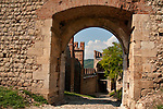 A gate within the Castle of Soave, Italy a walled city with a 14th century castle and city walls