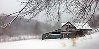 Old Barn in Winter/Snow
