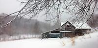 Old Barn in Winter/Snow