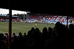 Dagenham and Redbridge 1 Burton Albion 3, 21/02/2015. Victoria Road, League Two. View from the old North terrace. Burton Albion moved to the top of League Two following a hard-fought win over Dagenham & Redbridge played in-front of 1,718 supporters. Photo by Simon Gill.