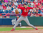 7 March 2015: St. Louis Cardinals pitcher John Gast on the mound during a Spring Training game against the Washington Nationals at Space Coast Stadium in Viera, Florida. The Cardinals fell to the Nationals 6-5 in Grapefruit League play. Mandatory Credit: Ed Wolfstein Photo *** RAW (NEF) Image File Available ***