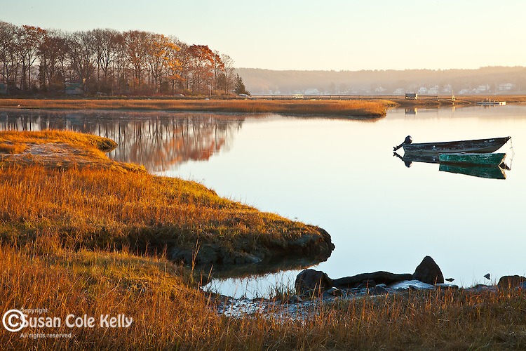 The Jones River Saltmarsh in Gloucester, MA, USA