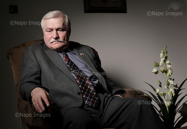 GDANSK, POLAND, MAY 2009:.Lech Walesa , creator of Solidarity, at his office in Gdansk..(Photo by Piotr Malecki / Napo Images)...Lech Walesa w biurze.Gdansk, 18/05/2009.Fot: Piotr Malecki / Napo Images..