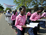 Catholics in Southern Sudan participate in a procession through the streets of Juba on November 20 to pray for a peaceful January 2011 referendum on secession from the north of the country. The independence vote has widespread support throughout Southern Sudan, including among Christians.