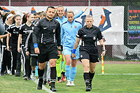 Piscataway, NJ - Saturday May 20, 2017: Luis Arroyo, Maggie Short, Christie Pearce, Kailen Sheridan prior to a regular season National Women's Soccer League (NWSL) match between Sky Blue FC and the Houston Dash at Yurcak Field.  Sky Blue defeated Houston, 2-1.