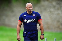 Bath Rugby Strength and Conditioning Coach Matt Pickard looks on. Bath Rugby pre-season skills training on June 21, 2016 at Farleigh House in Bath, England. Photo by: Patrick Khachfe / Onside Images
