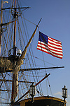 Flag flying from the Bounty tall ship, docked in Santa Cruz harbour. Tenerife,Canary Islands.