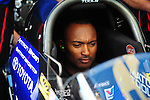 May 5, 2012; Commerce, GA, USA: NHRA top fuel dragster driver Antron Brown during qualifying for the Southern Nationals at Atlanta Dragway. Mandatory Credit: Mark J. Rebilas-