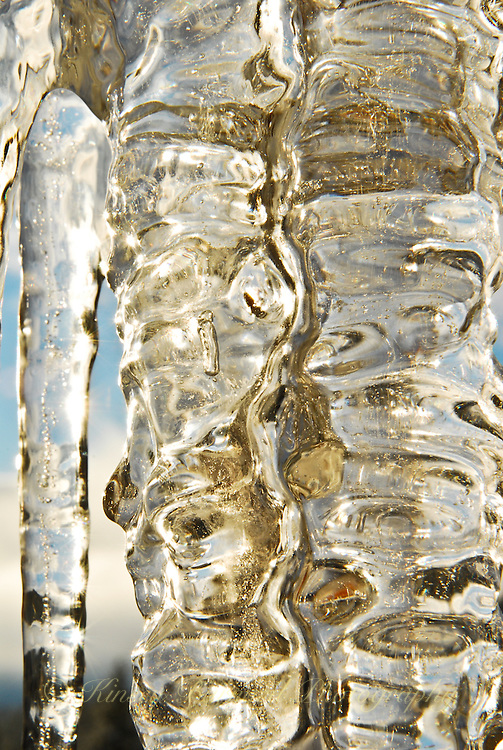 &quot;ICICLES-4&quot;<br /> <br /> The winter icicles that form any place they can find to hang, even eaves create very imaginative works of natural art. One is likely to find these amazing designs most anywhere in a Montana winter.