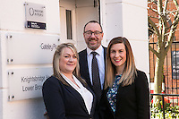 Pictured at Gateley Leicester are newlly-promoted solicitors Claire Herbert (left) and Natalie Howes with Senior Partner Gareth John