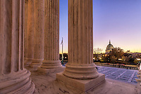 United States Capitol Building from the Supreme Court Washington DC