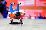 17 December 2010: Sergei Chudinov sliding for Russia, finishes in 1st place at the Viessmann FIBT Skeleton World Cup Championships in Lake Placid, New York, USA. Mandatory Credit: Ed Wolfstein Photo