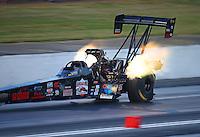 May 13, 2016; Commerce, GA, USA; NHRA top fuel driver Scott Palmer during qualifying for the Southern Nationals at Atlanta Dragway. Mandatory Credit: Mark J. Rebilas-USA TODAY Sports