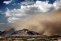 A sandstorm approaches the town of Teseney, near the Sudanese border in western Eritrea..