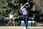 BROWNS SUMMIT, NC - APRIL 01: Virginia's Lauren Diaz-Yi tees off on the 10th hole. The first round of the Bryan National Collegiate Women's Golf Tournament was held on April 1, 2017, at the Bryan Park Champions Course in Browns Summit, NC.