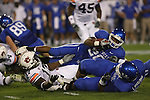 UK runningback Derrick Locke is tackled against Auburn at Commonwealth Stadium on Saturday, Oct. 9, 2010. Photo by Scott Hannigan | Staff