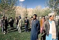 Mujahedins and locals in Yakawlang Bazaar. Hazarajat, Afghanistan.
