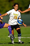 31 August 2007: University of Vermont Catamounts' Kaitlin Francis, a Junior from Hinesburg, VT, in action against the University of Central Arkansas Sugar Bears at Historic Centennial Field in Burlington, Vermont. The Catamounts defeated the Sugar Bears 1-0 during the TD Banknorth Soccer Classic...Mandatory Photo Credit: Ed Wolfstein Photo