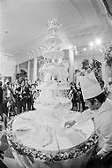 12 Jun 1971, Washington, DC, USA --- Wedding Cake for Tricia Nixon and Edward Cox --- Image by © JP Laffont