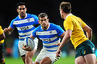 Ramiro Moyano of Argentina in possession. The Rugby Championship match between Argentina and Australia on October 8, 2016 at Twickenham Stadium in London, England. Photo by: Patrick Khachfe / Onside Images