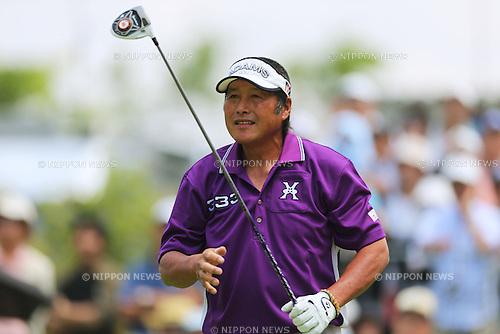 Masashi Ozaki (JPN), .May 16, 2013 - Golf : .PGA Championship Nissin Cup Noodles Cup 2013, 1st Round .at Sobu Country Club, Chiba, Japan. .(Photo by Daiju Kitamura/AFLO SPORT)