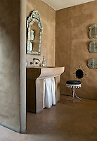 The walls of the riad have been finished using a traditional Moroccan treatment containing earth and sand