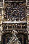 United Kingdom, Great Britain; England; London. Facade of Westminster Abbey.