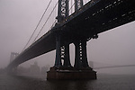Manhattan and Brooklyn bridge in the winter. Images of New York 2004, New York,U.S.A