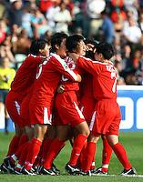 Korea celebrate the goal of Hyon Sun Jang (PRK)..FIFA U17 Women's World Cup Final, USA v Korea DPR, Albany Stadium, Auckland, New Zealand, Sunday 16 November 2008. Photo: Renee McKay/PHOTOSPORT