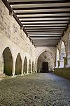 Cloister, Real Colegiata de Santa Maria Church, Roncesvalles, Navarra, Spain