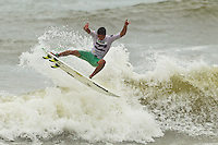 "BURLEIGH HEADS, Queensland/Australia (Saturday, 29 January, 2012) Nathan Carvalho (HAW). – Caio Ibelli (BRA) and Leila Hurst (HAW) have claimed the Men's and Women's ASP World Junior Titles at the Billabong World Junior Championships today. The pair join a prestigious list of former ASP World Junior Champions, including: Adriano De Souza (BRA), Joel Parkinson (AUS), Andy Irons (AUS), Jessi Miley-Dyer (AUS) and Sally Fitzgibbons (AUS). ..Wade Carmichael (AUS) and Alessa Quizon (HAW) were also amongst the winners today, taking out the third and final event of the ASP World Junior Title Series, the Billabong ASP World Junior Championships...The Men's ASP World Junior Title race saw all the frontrunners bow out early today with Jack Freestone (AUS) eliminated by Medi Veminardi (REU) and Ian Gouveia (BRA) taken out by Wade Carmichael (AUS) in the Quarterfinals. Carmichael had a sensational outing at Burleigh Heads this week, gaining entry into the event with a win at the Von Zipper trials and then sticking it to the world's best junior surfers with a win at the Billabong ASP World Junior Championships...Another frontrunner, Garrett Parkes (AUS), needed to advance out of today's Quarterfinals to clinch the 2011 ASP World Junior Title, but was halted by South American sensation Filipe Toledo (BRA). Parkes's ousting in the Quarterfinals resulted in a tie with Caio Ibelli (BRA) for the top spot on the ASP World Junior Title rankings, requiring a ""Surf-Off"" to determine the champion...Caio Ibelli (BRA) started the Surf-Off with a couple of minor scores, it was clear that he was going for something big. Garret Parkes (AUS) on the other hand started chipping away at the lead, posting some scores in the good range to give him an early lead. Ibelli found a wave that linked up and unleashed some solid carves and a massive air-reverse to score an 8.67 (out of a possible 10), to swing momentum his way and take the lead. Parkes had a last minute chance to claim the"
