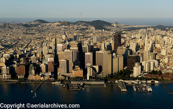 aerial photograph Embarcadero waterfront San Francisco California
