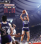 27 MAR 1978:  Mike Gminski (43) of Duke puts up a shot over Fred Cowan (40) of Kentucky during the Men's Final Four Championship held in St. Louis at the Checkerdome.  Kentucky defeated Duke 94-88 for the national title.  Photo Copyright Rich Clarkson